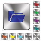 Steel folder open buttons