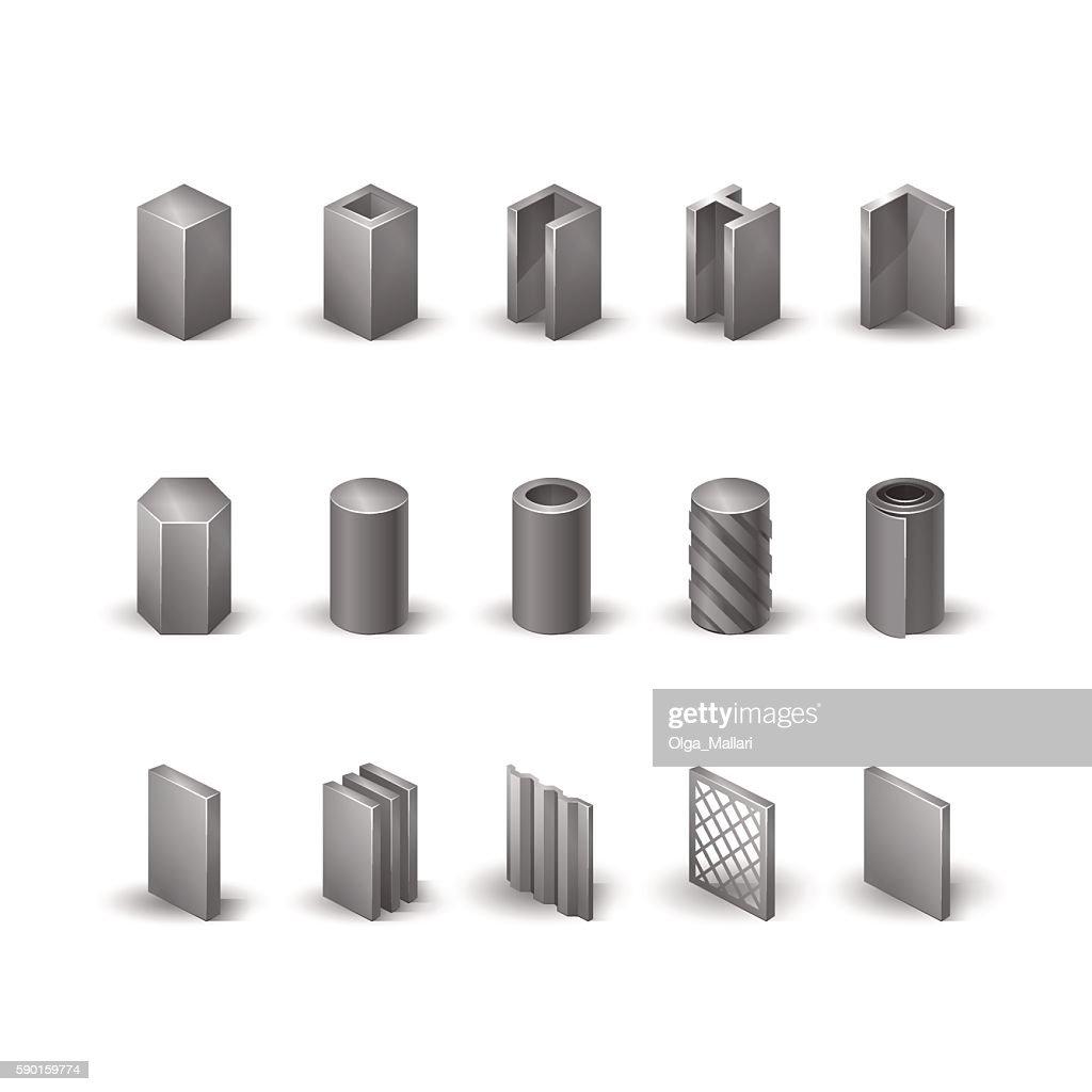 Steel  icon set