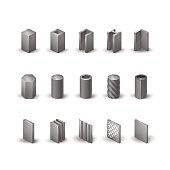 Steel  icon set