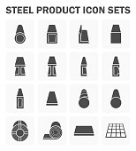 Steel product icons