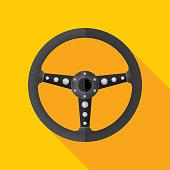 Steering Wheel Icon Flat