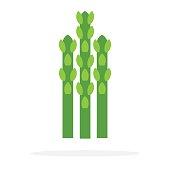 Stems of asparagus