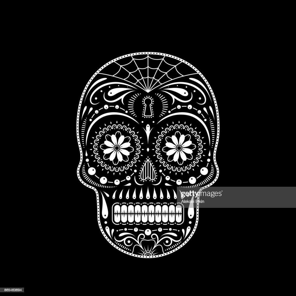 Stencil decorative sugar skull