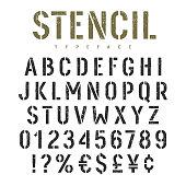 Stencil font 002
