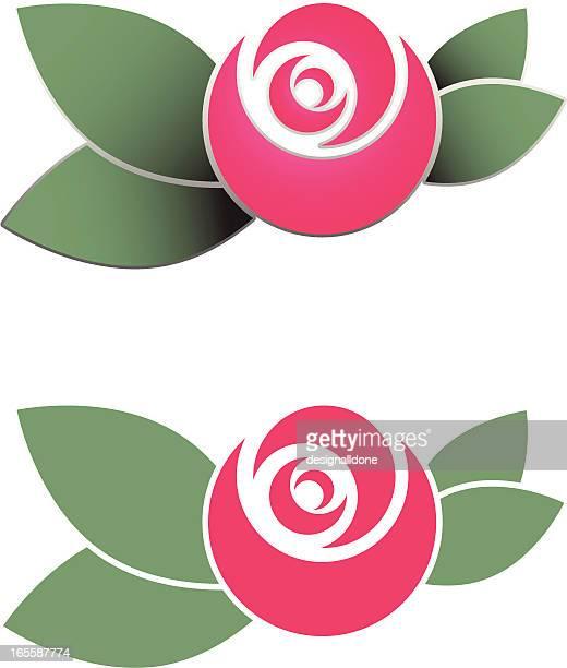 Schablone Rose Grafik