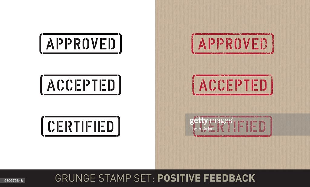 Stencil stamp set: positive feedback (plain and grunge versions)