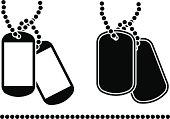 stencils of dog tags