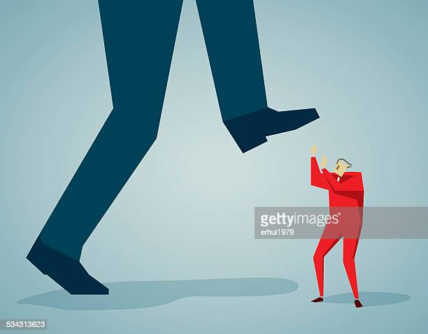 step on - office politics stock illustrations, clip art, cartoons, & icons
