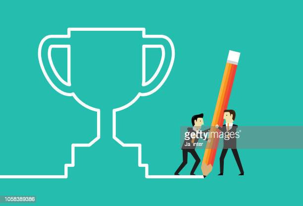 step to trophy - incentive stock illustrations, clip art, cartoons, & icons