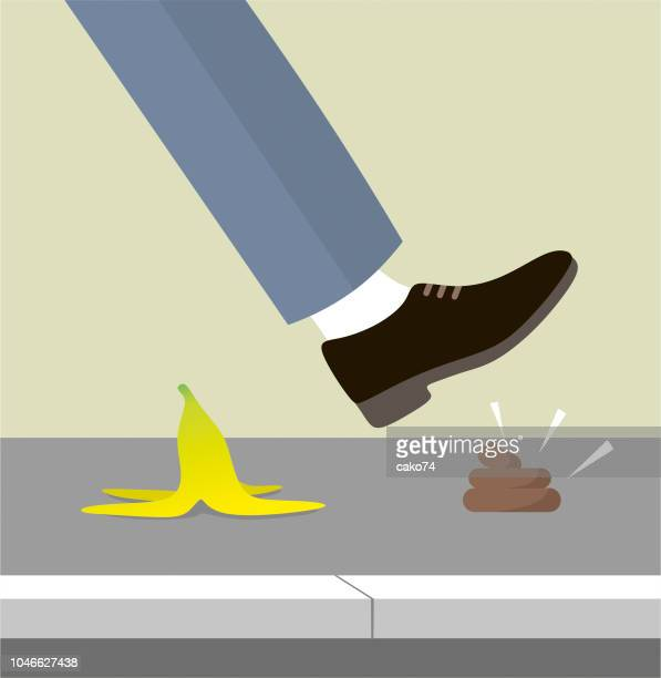 stepping on shit - defecating stock illustrations, clip art, cartoons, & icons
