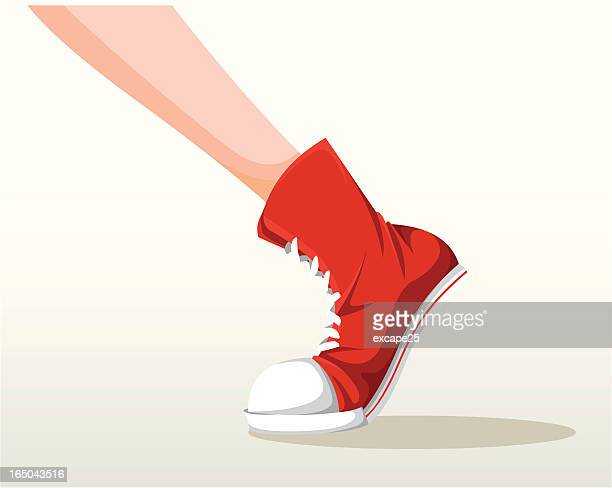 stepping shoes - foot stock illustrations, clip art, cartoons, & icons