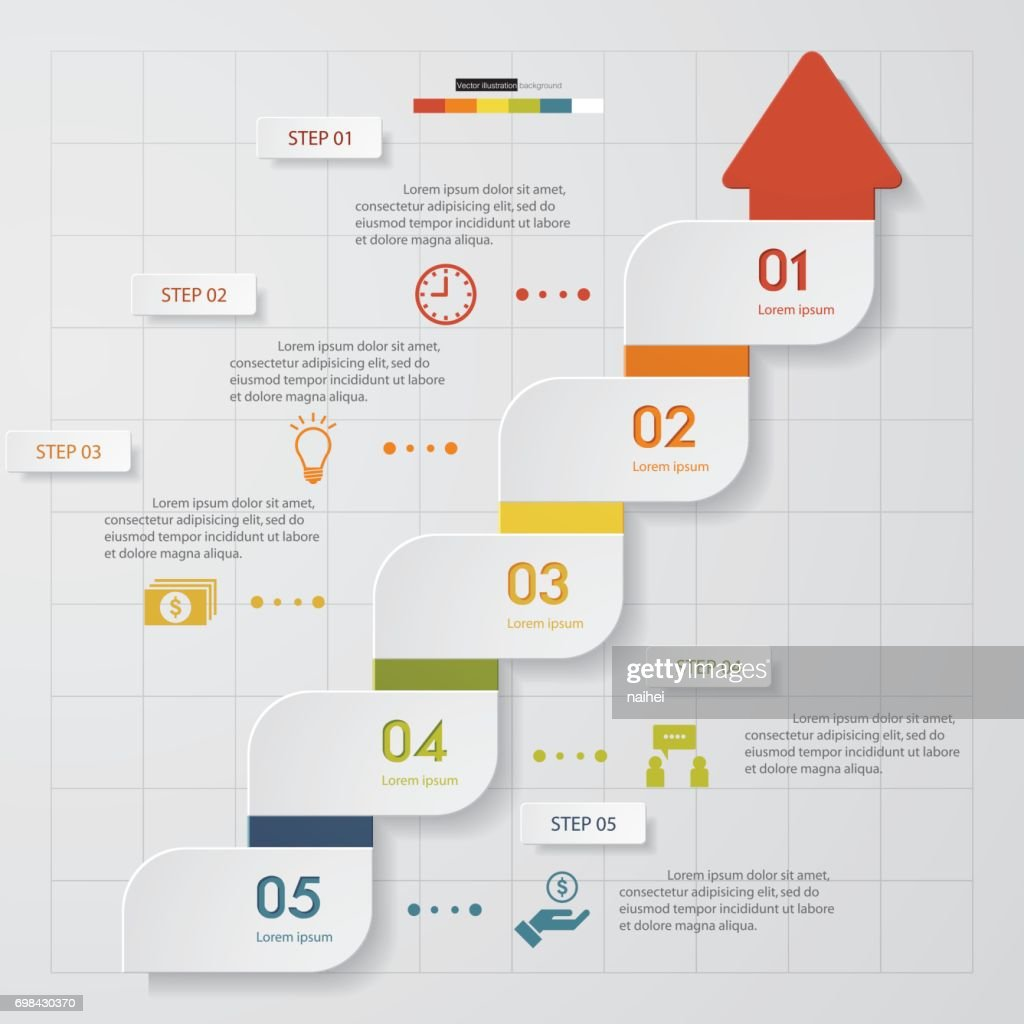 5 steps chart templategraphic or website layout vector art getty 5 steps chart templategraphic or website layout vector art ccuart Choice Image