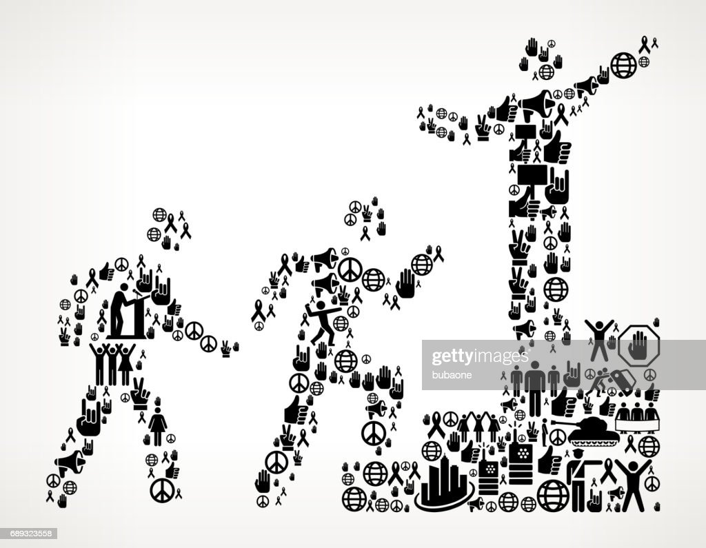 Steps to Success  Protest and Civil Rights Vector Icon Background : Stock Illustration