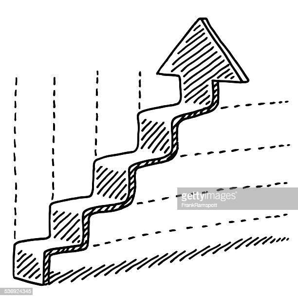 Steps Upwards Arrow Graph Drawing
