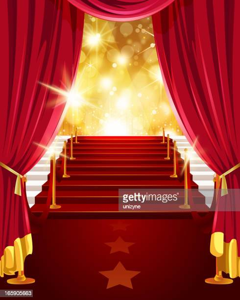 Steps with Red Carpet and Screens