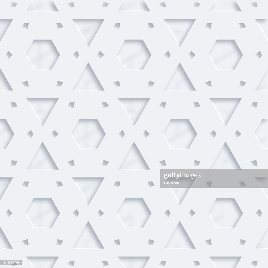 Stereoscopic seamless pattern