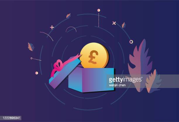 sterling gifts, surprise graphics - christmas cash stock illustrations