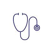 Stethoscope line icon