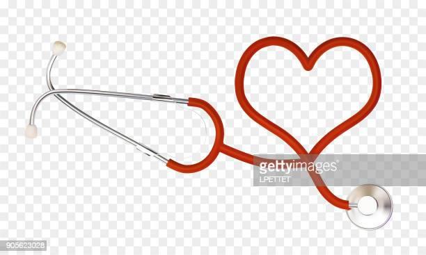 illustrazioni stock, clip art, cartoni animati e icone di tendenza di stetoscopio - stetoscopio