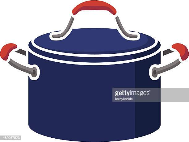 stew pot - stew pot stock illustrations