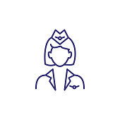 Stewardess line icon
