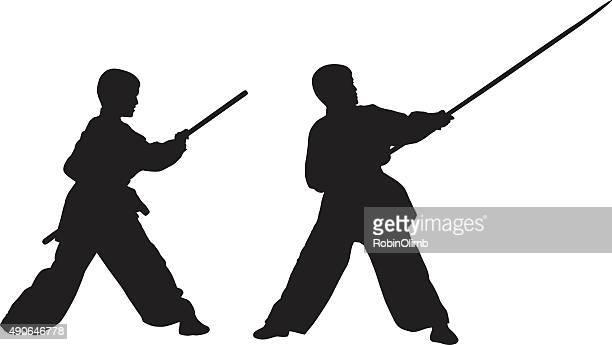 Stick Fighting Boy