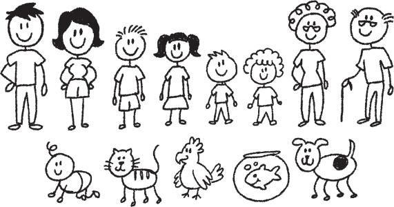 stick figure family - gettyimageskorea