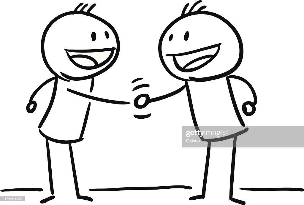 Stick Figure Hand Shake