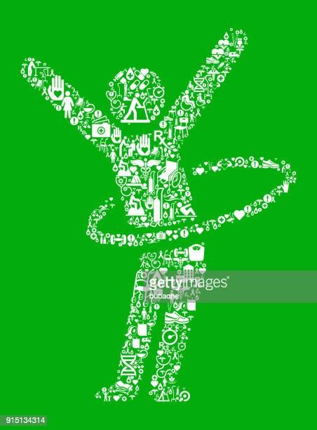 stick figure hula hooping green medical rehabilitation physical therapy - work romance stock illustrations, clip art, cartoons, & icons