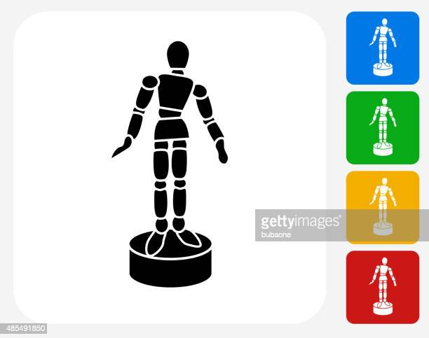 stick figure model icon flat graphic design - figurine stock illustrations, clip art, cartoons, & icons