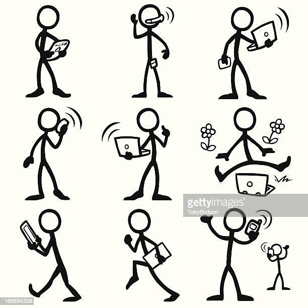 Stick Figure People mobile computing