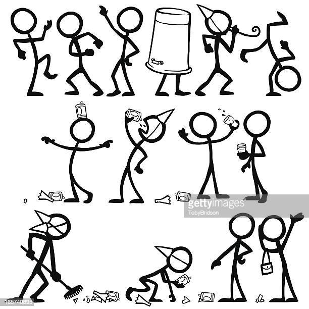 Stick Figure People Party