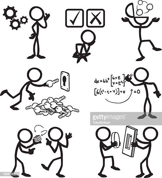 Stick Figure People Problem Solving