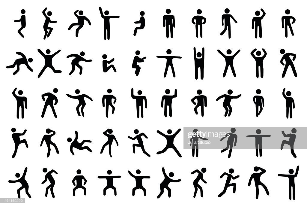 50 stick figure set
