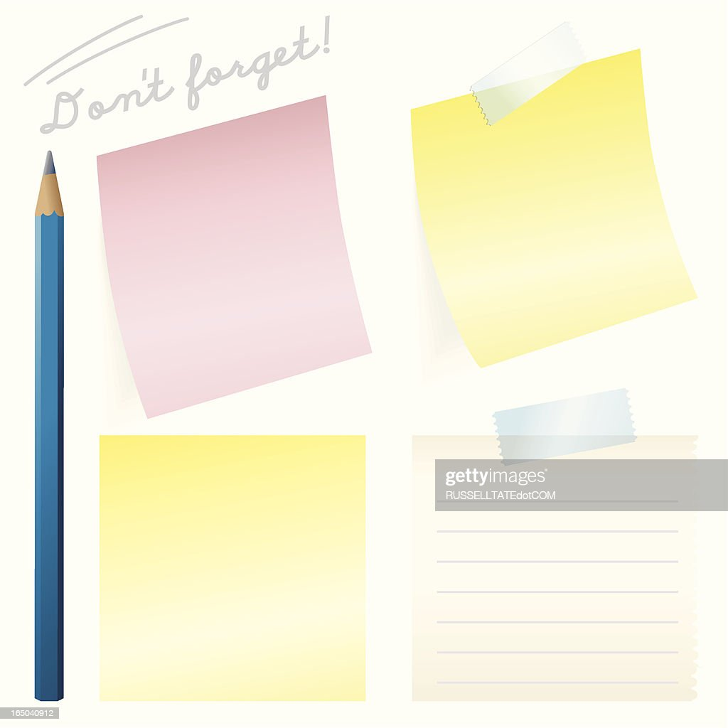 Stick It Note : stock illustration