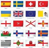 Sticker flags: Europe