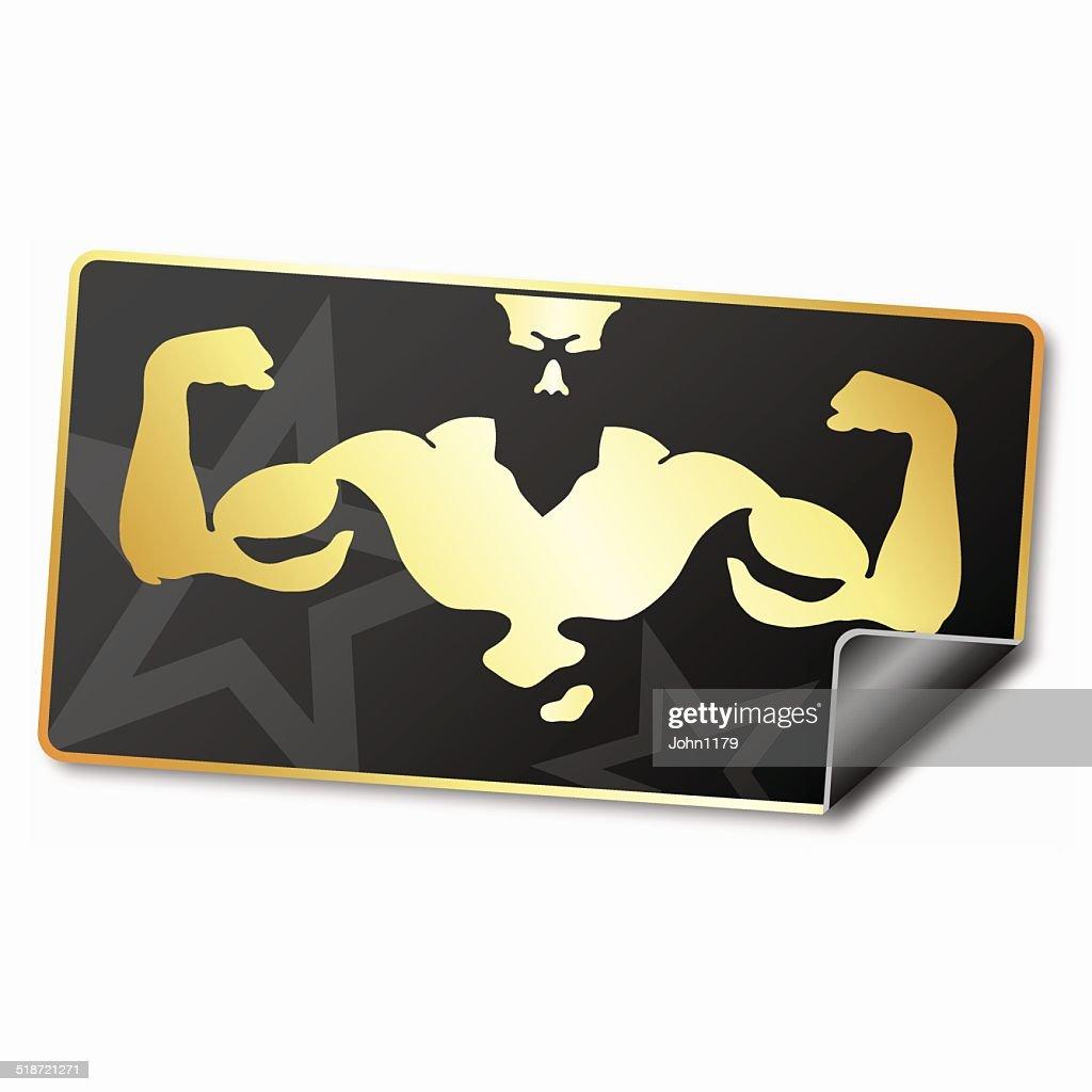 Sticker for gym