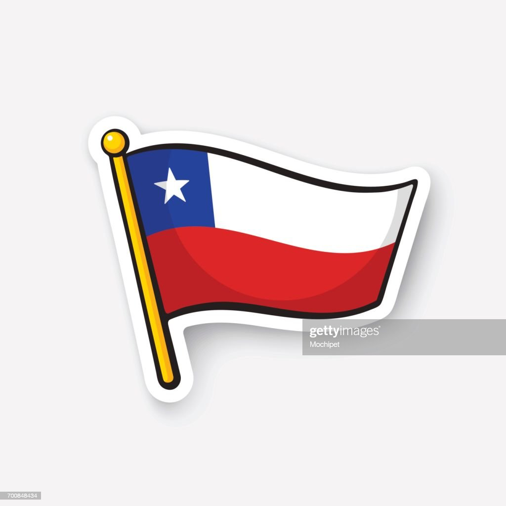 Sticker national flag of Chile