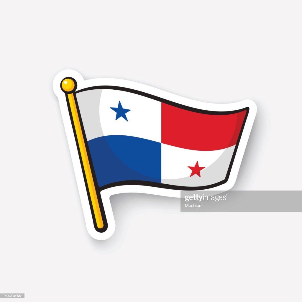 Sticker national flag of Panama