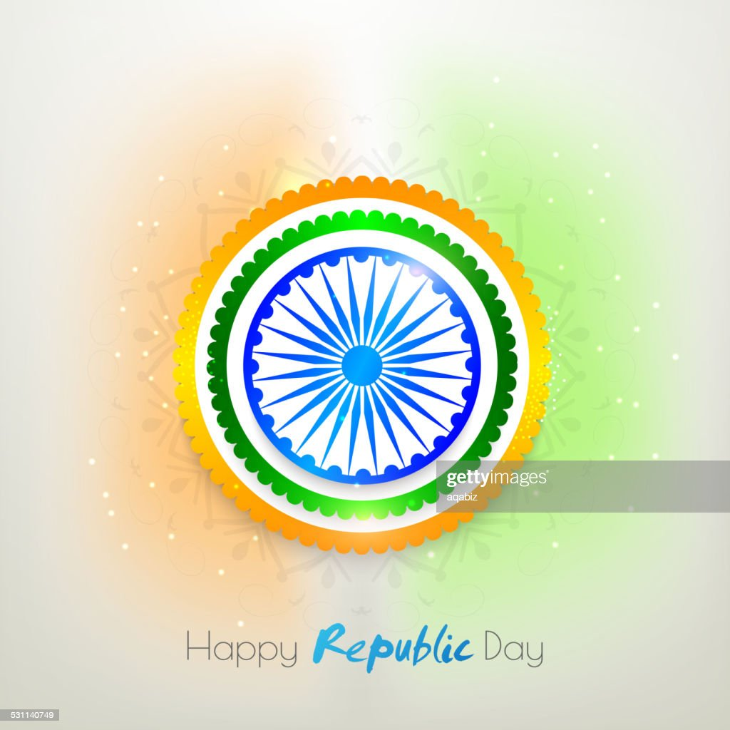 Sticker or label for Indian Republic Day.