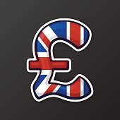 Sticker pound sign in national flag colors