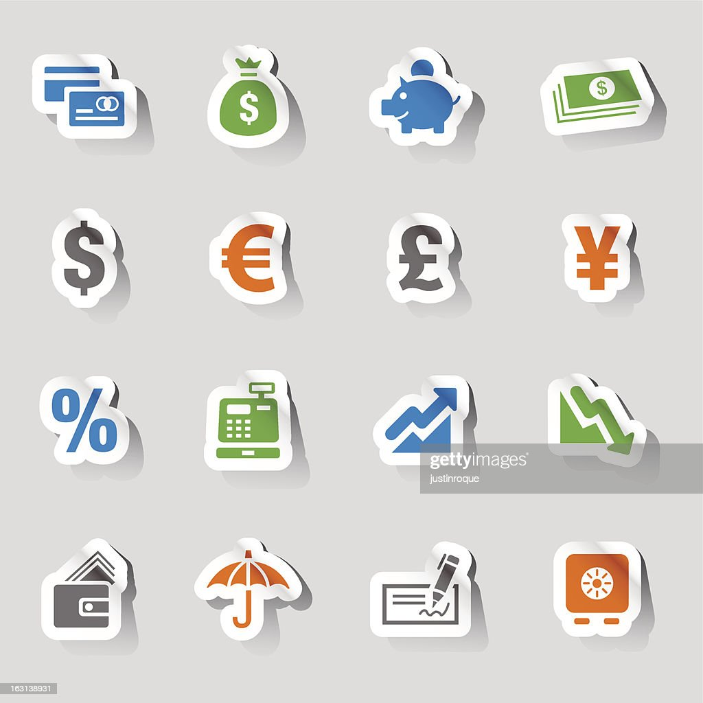 Stickers - Finance and banking icons