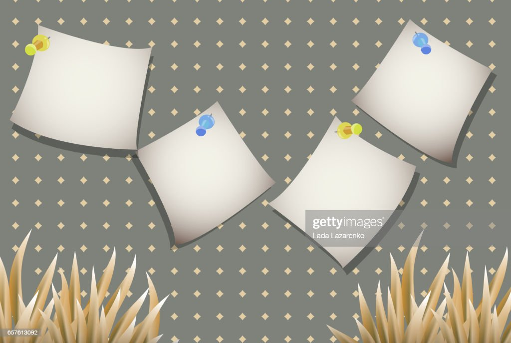 Stickers for text with a yellow plant on a simple background