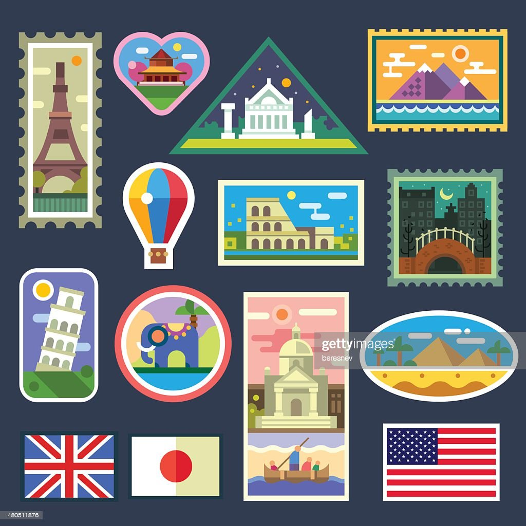 Stickers from various countries, Gifts from travelers