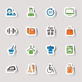Stickers - Hotel and Resort Icons