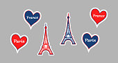 Stickers of Eiffel Tower