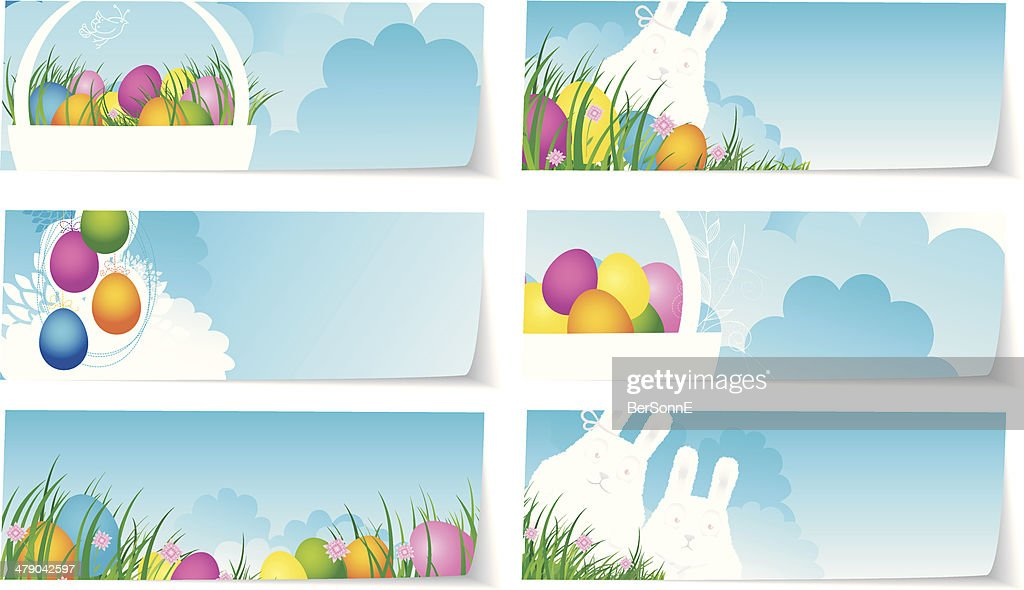 Stickers set easter