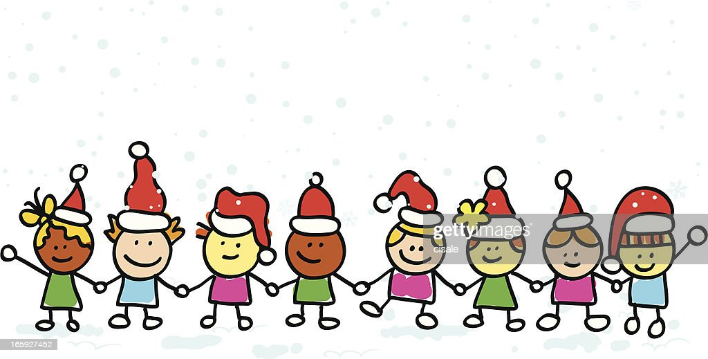 Sticky Christmas Children Cartoon Illustration High-Res ...