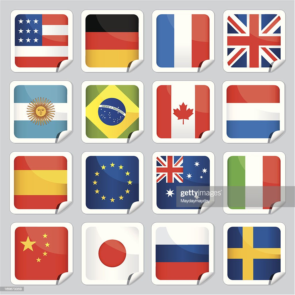 Sticky flags of the world