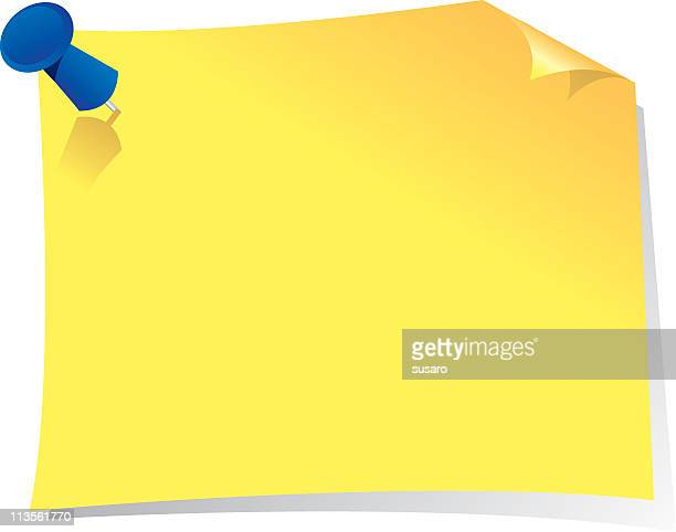 a sticky note on a white background - post it stock illustrations, clip art, cartoons, & icons
